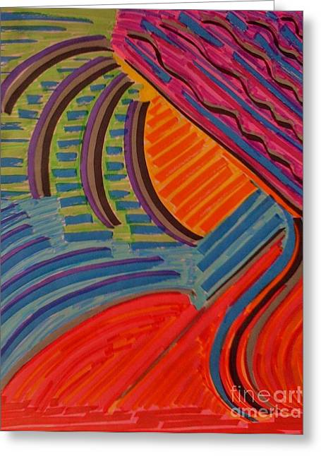 Sunset Abstract Drawings Greeting Cards - Sunset on the Sea Greeting Card by Joseph Mccullagh