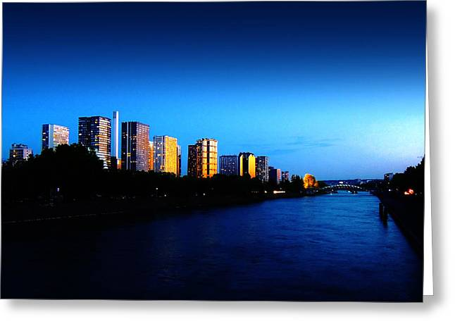 Grenelle Greeting Cards - Sunset on the Seine Greeting Card by Conor OBrien