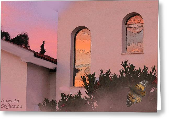 Sunset on Windows Greeting Card by Augusta Stylianou
