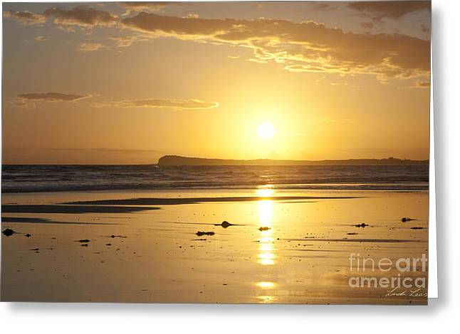 Morn Greeting Cards - Sunset over Barwon Heads Greeting Card by Linda Lees