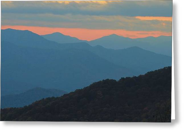 Gatlinburg Tennessee Greeting Cards - Sunset Over Blue Ridge Asheville North Carolina Greeting Card by Dan Sproul