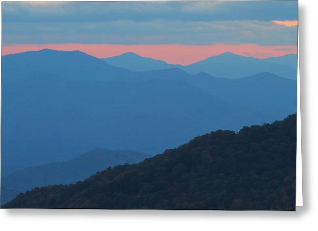 Gatlinburg Tennessee Greeting Cards - Sunset Over Blue Ridge Greeting Card by Dan Sproul