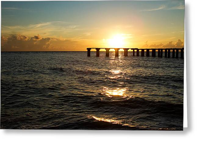 Toy Boat Greeting Cards - Sunset Over Boca Grande Florida Greeting Card by Fizzy Image