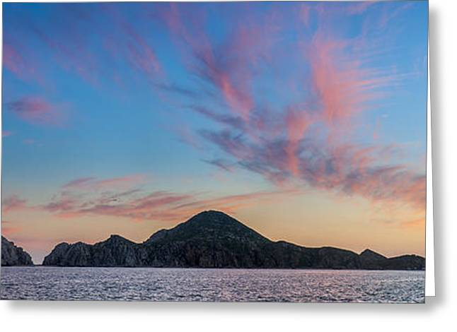 Paradise Greeting Cards - Sunset Over Cabo Greeting Card by Sebastian Musial