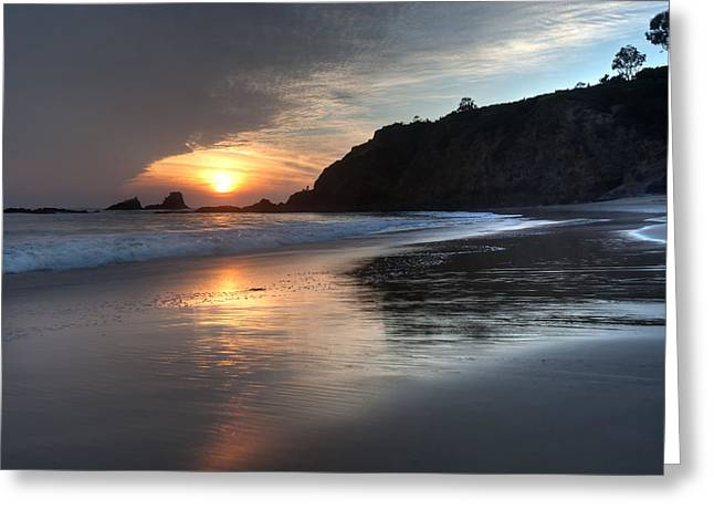 Night Angel Greeting Cards - Sunset over Crescent Bay Greeting Card by Cliff Wassmann