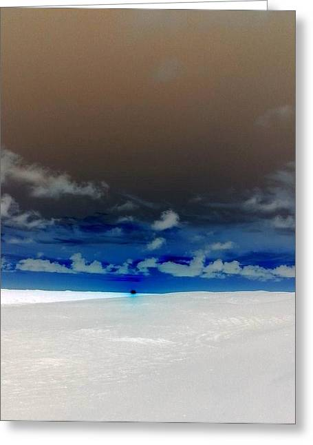 Inverted Color Greeting Cards - Sunset over dunes2 Greeting Card by Melanie Rader