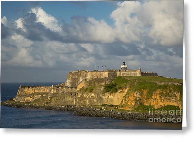 El Morro Greeting Cards - Sunset over El Morro Greeting Card by Brian Jannsen