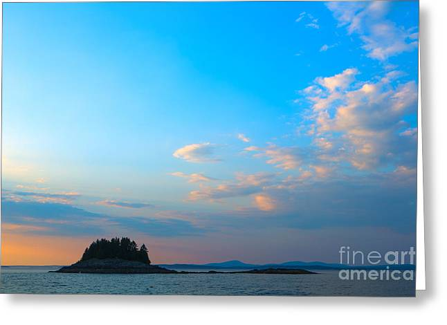 New England Ocean Greeting Cards - Sunset Over Frenchman Bay Greeting Card by Diane Diederich