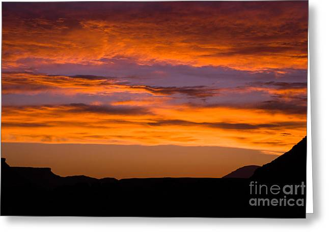 Geobob Greeting Cards - Sunset over Grafton and Wire Mesa looking west from Rockville Utah Greeting Card by Robert Ford
