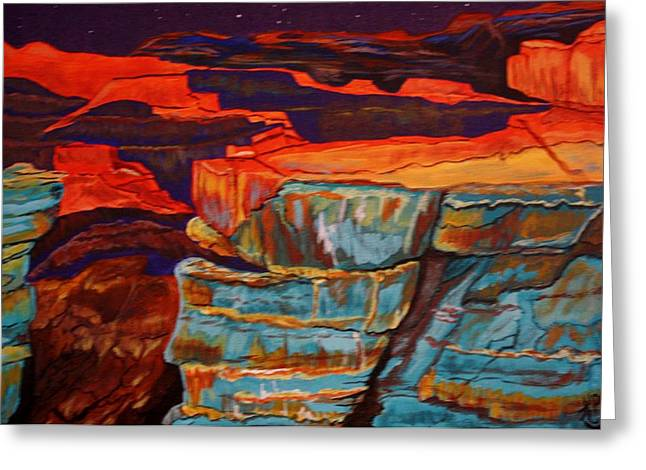 Surreal Landscape Greeting Cards - Sunset over Grand Canyon Greeting Card by Karla PetersonSmith