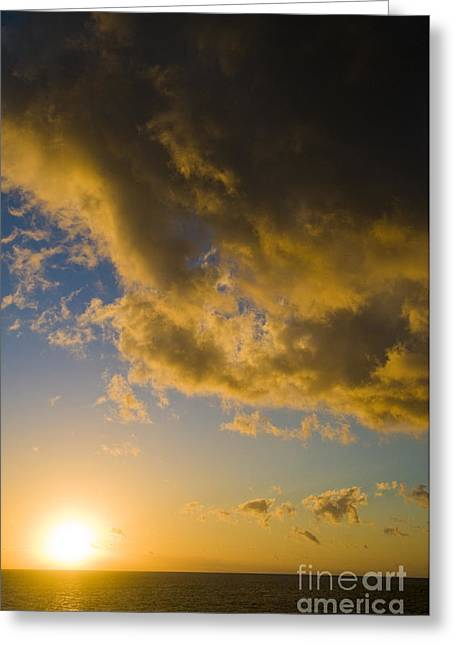 Great Barrier Reef Greeting Cards - Sunset Over Great Barrier Reef Greeting Card by William H. Mullins