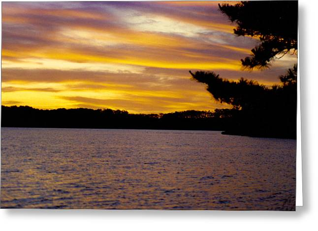 Cape Cod Mass Greeting Cards - Sunset Over Great Pond Greeting Card by Robert Estes