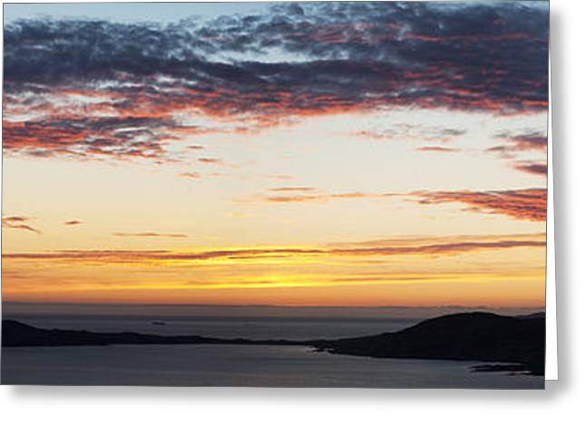 Sunset Over Isle Of Harris Scotland Greeting Card by Tim Gainey
