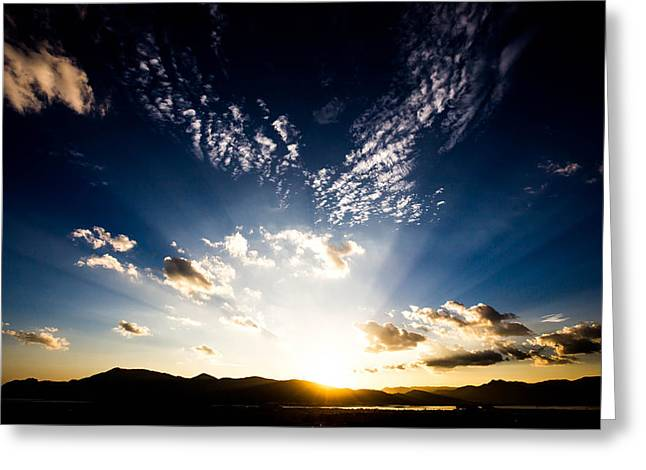 Tom Liesener Greeting Cards - Sunset Over Kunming Greeting Card by Tom Liesener