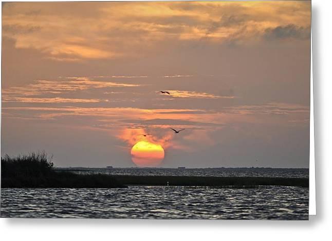 Galveston Greeting Cards - Sunset over Lake Como Greeting Card by Kristina Deane
