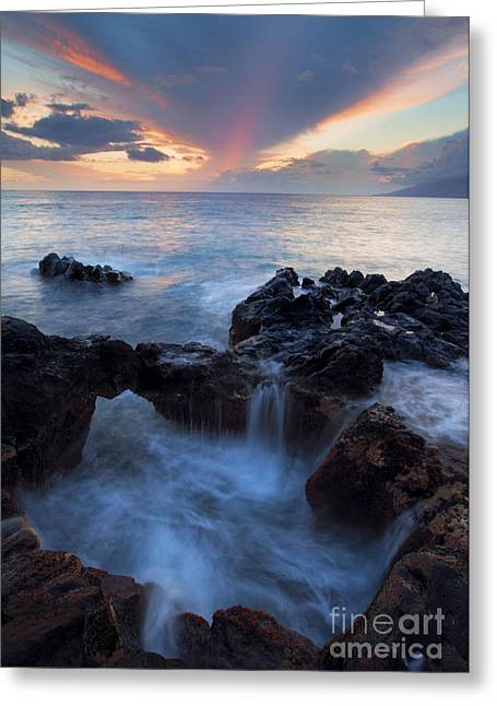 Cauldron Greeting Cards - Sunset over Lanai Greeting Card by Mike  Dawson