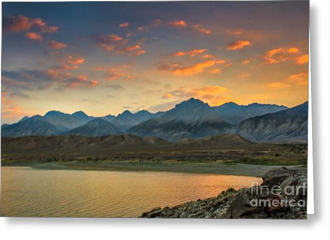 Salmon River Idaho Greeting Cards - Sunset Over Lost  River Moutains Greeting Card by Robert Bales