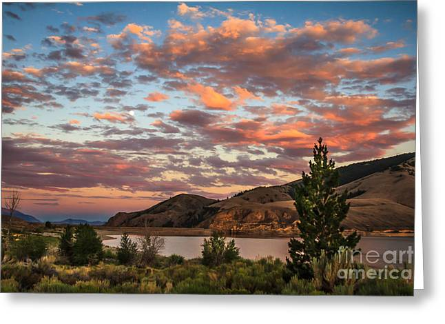Salmon River Idaho Greeting Cards - Sunset Over Mackay Greeting Card by Robert Bales