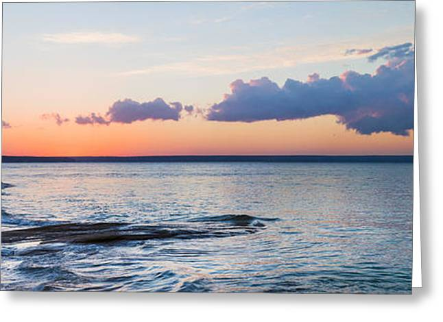 Upper Peninsula Greeting Cards - Sunset Over Miners Beach, Pictured Greeting Card by Panoramic Images