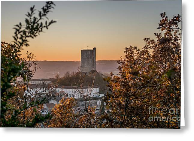 """south West France"" Greeting Cards - Sunset over Montcuq Greeting Card by Tony Priestley"