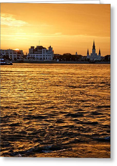 Sunset Over New Orleans Greeting Card by Patricia Sanders