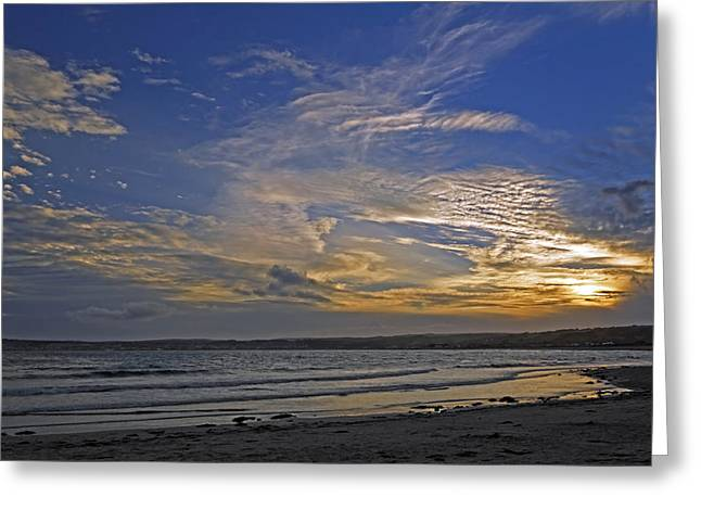 Coastal Greeting Cards - Sunset Over Penzance - Cornwall Greeting Card by Rod Johnson