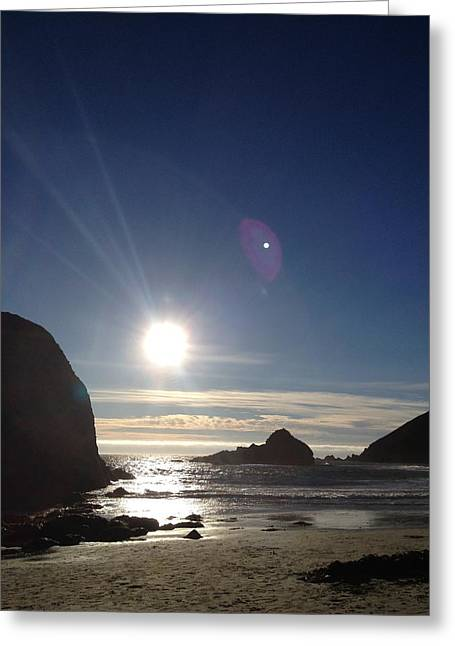 Pfeiffer Beach Greeting Cards - Sunset Over Pfieffer Greeting Card by Tom  Shaw