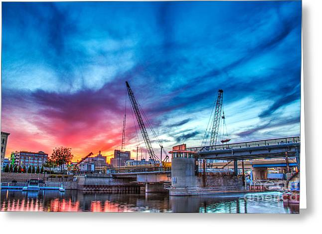 Riverwalk Greeting Cards - Sunset over St. Paul Greeting Card by Andrew Slater