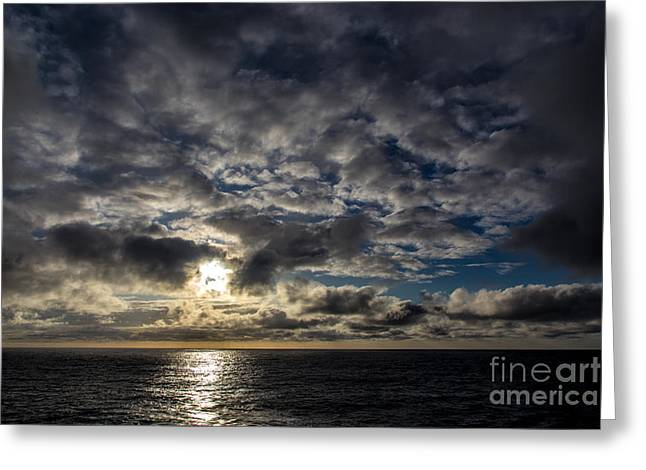 Water Reflecting At Sunset Greeting Cards - Sunset over the Atlantic Ocean Greeting Card by Rene Triay Photography