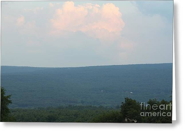 Sun Behind Clouds Greeting Cards - Sunset Over the Catskill Mountains Greeting Card by John Telfer