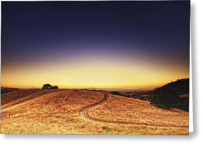 Concord Greeting Cards - Sunset over the hillock 2. Greeting Card by Laszlo Rekasi