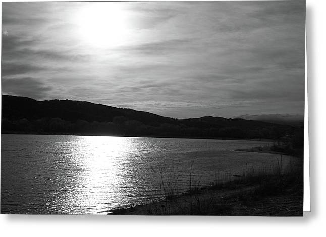 Haze Greeting Cards - Sunset Over The Lake Greeting Card by Glenn McCarthy Art and Photography