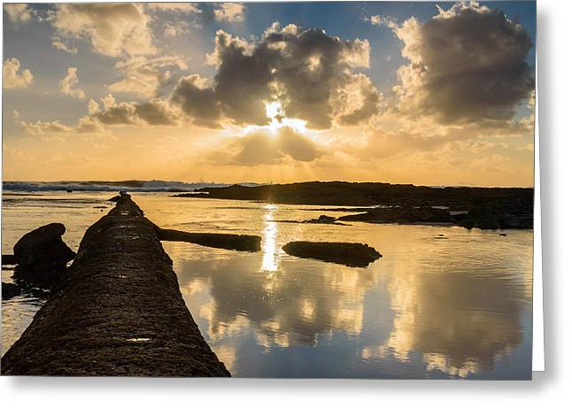 Gloaming Photographs Greeting Cards - Sunset Over The Ocean I Greeting Card by Marco Oliveira