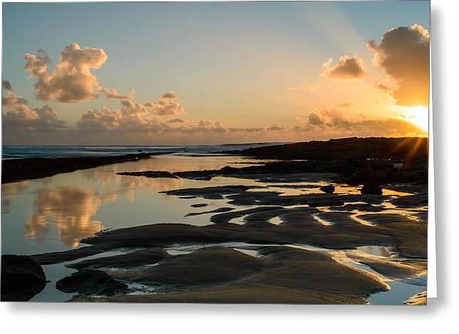 Gloaming Greeting Cards - Sunset Over The Ocean III Greeting Card by Marco Oliveira