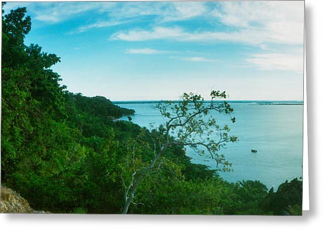 Sao Greeting Cards - Sunset Over The Ocean, Morro De Sao Greeting Card by Panoramic Images