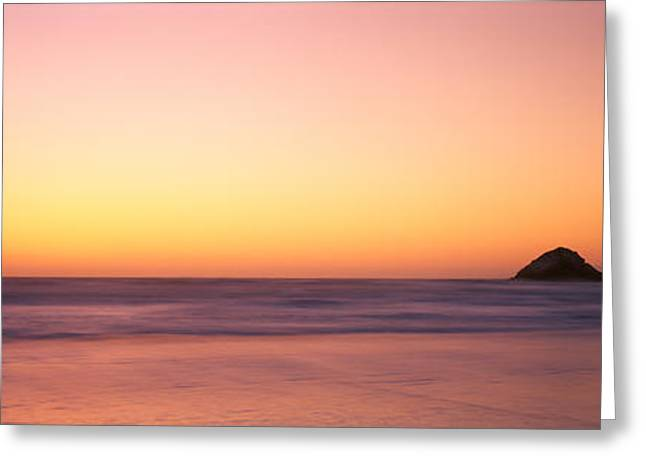 Ocean Images Greeting Cards - Sunset Over The Ocean, Pacific Ocean Greeting Card by Panoramic Images