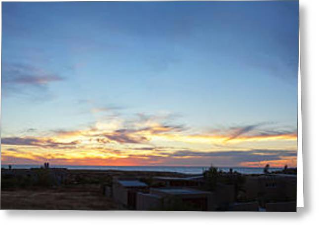 Baja California Greeting Cards - Sunset Over The Pacific Ocean, Todos Greeting Card by Panoramic Images