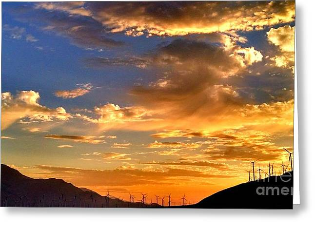 Verga Greeting Cards - Sunset over the Pass Greeting Card by Chris Tarpening