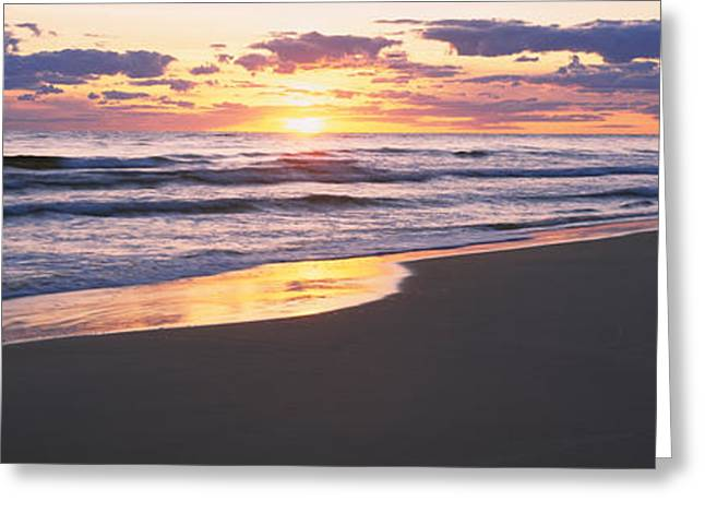 Baltic Sea Greeting Cards - Sunset Over The Sea, Gotska Sandon Greeting Card by Panoramic Images