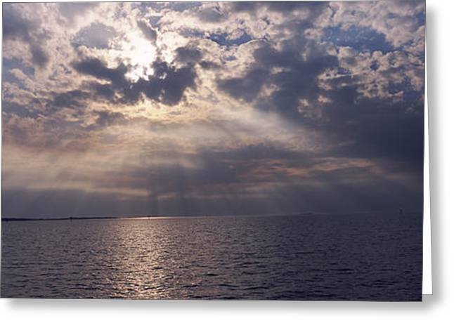 Sunset Over The Sea, Gulf Of Mexico Greeting Card by Panoramic Images