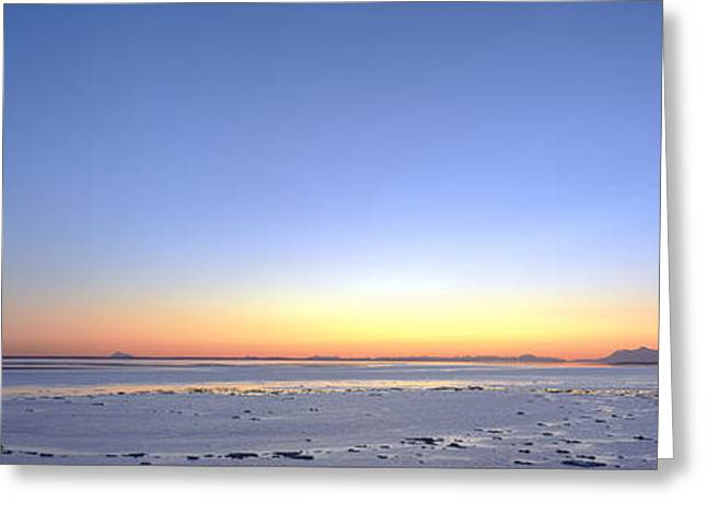 Alaska Scene Greeting Cards - Sunset Over The Sea, Turnagain Arm Greeting Card by Panoramic Images