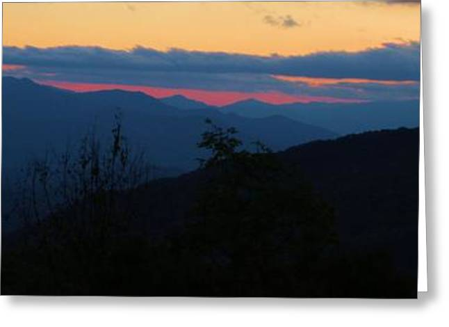 Road Travel Greeting Cards - Sunset Over The Smokies Greeting Card by Dan Sproul