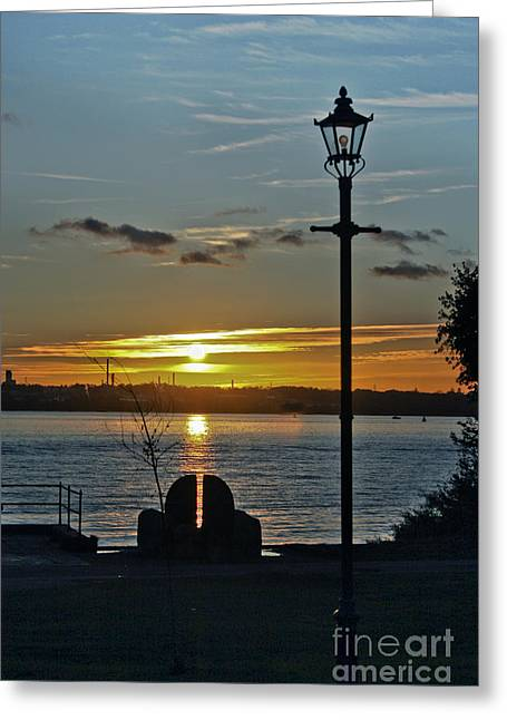 Terri Waters Greeting Cards - Sunset Over The Solent Greeting Card by Terri  Waters