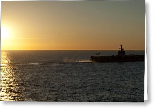 Ocean. Reflection Greeting Cards - Sunset over the Vinson Greeting Card by Mountain Dreams