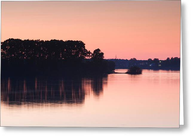Reflections In River Greeting Cards - Sunset Over The Volga River, Uglich Greeting Card by Panoramic Images