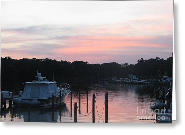 Convalescent Greeting Cards - Sunset Over The Waters  Greeting Card by John Morris