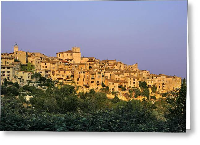 Interior Scene Greeting Cards - Sunset over Vieux Nice - Old Town - France Greeting Card by Christine Till
