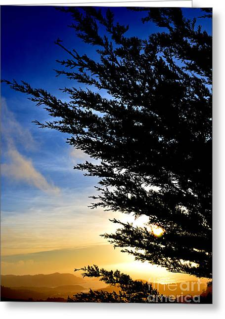 Sunset Overlooking Pacifica Ca Iv Greeting Card by Jim Fitzpatrick