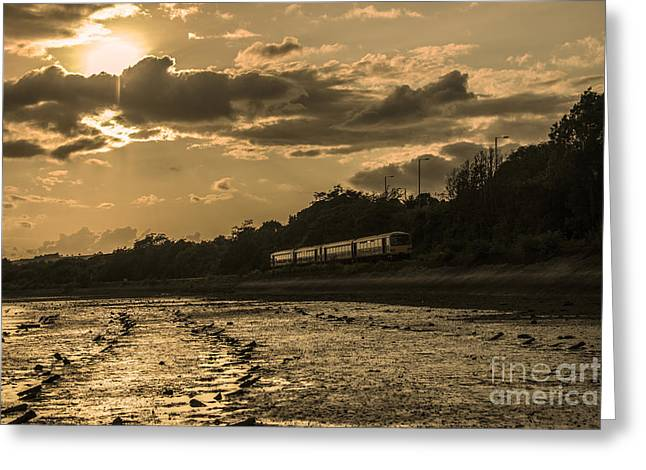 First-class Greeting Cards - Sunset PAcer  Greeting Card by Rob Hawkins