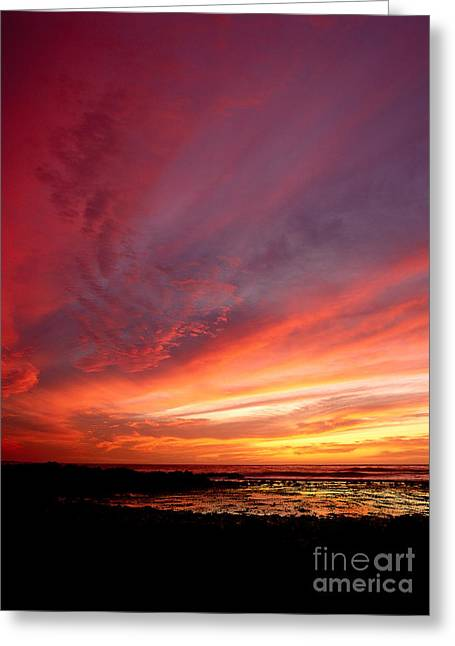 Californian Greeting Cards - Sunset, Pacific Ocean Greeting Card by Jim Corwin